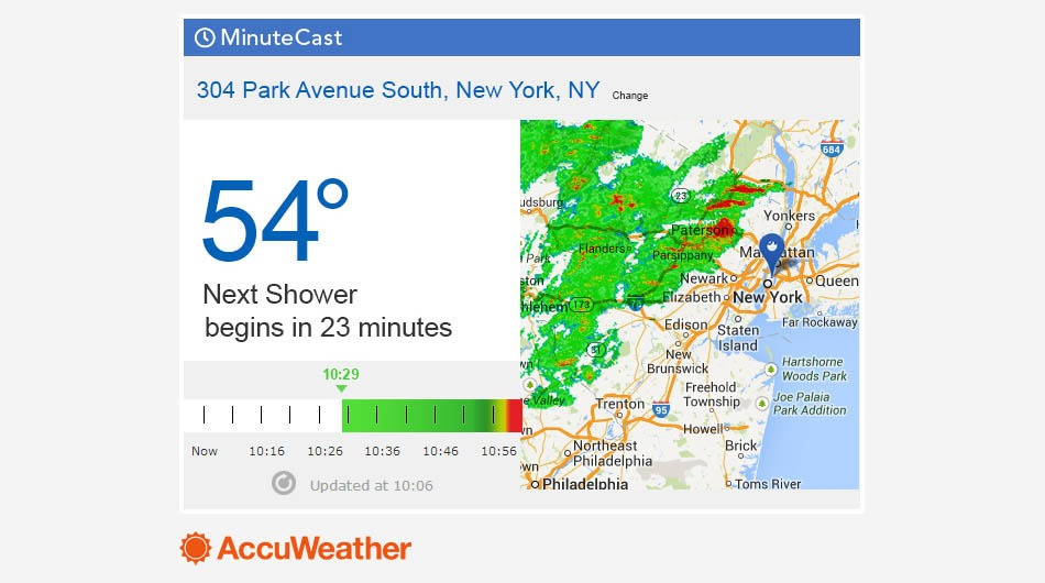 Accuweather Local Weather Forecasts : Accuweather acquires sky motion will launch minutecast